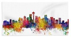 Seattle Washington Skyline Beach Towel