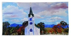 #17 St. Johns Historic Church On Hwy 69 Beach Towel