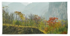 The Colorful Autumn Scenery Beach Sheet