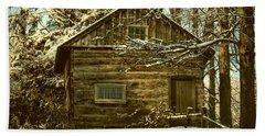 1700's Log School House In West Chester, Pennsylvania Beach Towel