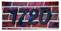 1720 Address Beach Towel