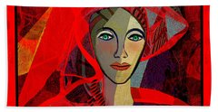 1791 - Lady In Red 2017 Beach Towel