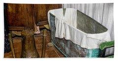 17th Century Bathroom Beach Sheet