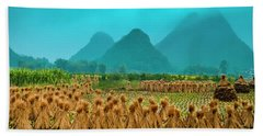 Beautiful Countryside Scenery In Autumn Beach Towel