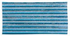 Blue Metal Beach Towel