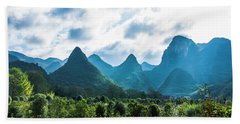 Countryside Scenery In Autumn Beach Towel
