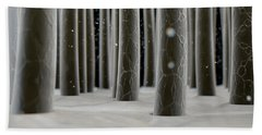 Microscopic Hair Fibers Beach Towel