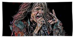 Steven Tyler Collection Beach Sheet by Marvin Blaine