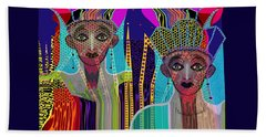 1800 - Magic Ladies -2017 Beach Towel by Irmgard Schoendorf Welch