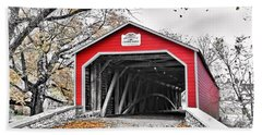 Beach Towel featuring the photograph 1839 Kreidersville Bridge by DJ Florek