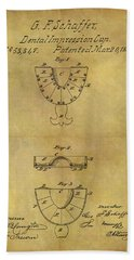 1866 Dental Mold Patent Beach Towel by Dan Sproul