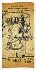 1871 Rotary Knitting Machine Beach Towel by Dan Sproul