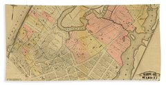 1879 Inwood Map  Beach Towel
