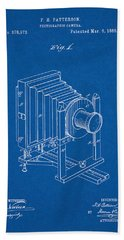 1888 Camera Us Patent Invention Drawing - Blueprint Beach Towel