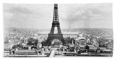 1889 Parisian Panorama Beach Towel