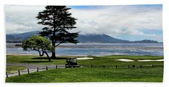 18th At Pebble Beach Horizontal Beach Towel