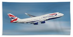 British Airways Boeing 747-436 Beach Towel