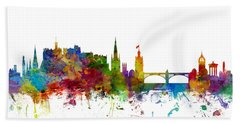 Edinburgh Scotland Skyline Beach Towel