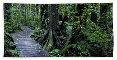 Beach Towel featuring the photograph Forest Boardwalk by Les Cunliffe