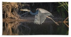 Great Blue Heron Beach Sheet by Tam Ryan