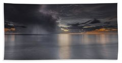 Sunst Over The Ocean Beach Towel