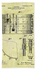 1900 Band Drum Patent Beach Towel