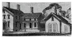 1900 Country Home With Garage Beach Towel