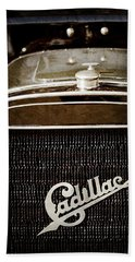 Beach Towel featuring the photograph 1907 Cadillac Model M Touring Grille Emblem -1106ac by Jill Reger