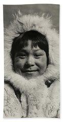 1910 Eskimo Child Beach Towel