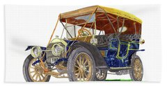 1910 Knox Model R 5 Passenger  Touring Automobile Beach Towel by Jack Pumphrey