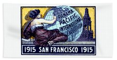 1915 San Francisco Expo Poster Beach Sheet by Historic Image