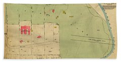Beach Towel featuring the photograph 1923 Inwood Hill Map  by Cole Thompson