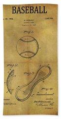 1924 Baseball Patent Beach Towel