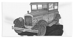 1925 Jewett 2 Door Touring Sedan Beach Towel by Jack Pumphrey