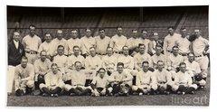 1926 Yankees Team Photo Beach Towel