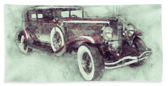 1928 Duesenberg Model J 1 - Automotive Art - Car Posters Beach Towel