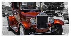 Beach Sheet featuring the photograph 1928 Ford Coupe Hot Rod by Chris Thomas