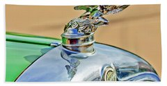1928 Studebaker Hood Ornament Beach Towel