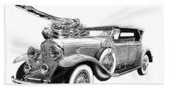 1929 Cadillac  Beach Towel