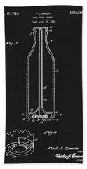 1929 Coca Cola Bottle Patent Beach Towel