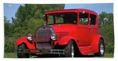 1929 Ford Sedan Hot Rod Beach Towel