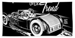 1929 Roadster Design Beach Towel