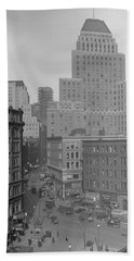 1929 Summer Street In Dock Square Boston Beach Towel by Historic Image