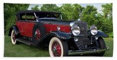 1930 Cadillac V16 Allweather Phaeton Beach Towel