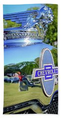 1930 Chevrolet Ad Hood Ornament Beach Sheet