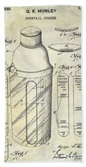 1930 Cocktail Shaker Patent Beach Towel