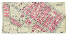 1930 Inwood Map  Beach Towel