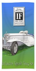 1930 Isotta Fraschini Tippo 8 A Flying Star Roadster Beach Towel by Jack Pumphrey