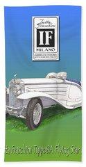 1930 Isotta Fraschini Tippo 8 A Flying Star Roadster Beach Sheet by Jack Pumphrey
