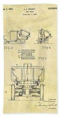 1931 Dump Truck Patent Beach Towel